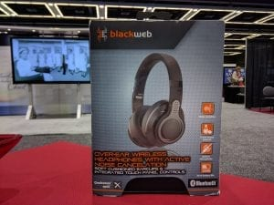 Headphones at Event Booth