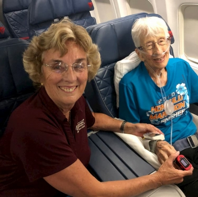 Flight with Gladys Burrill